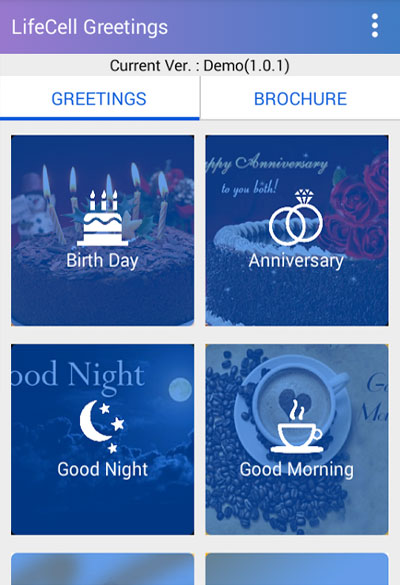 Life Cell Greetings Apps